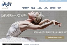 Website Design and Build: KC Ballet
